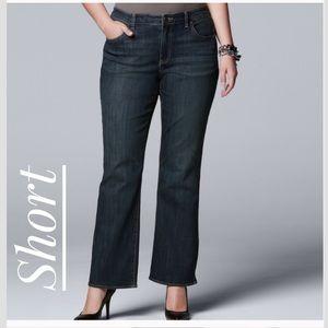 Women's SIMPLY VERA WANG LUXURY Bootcut Jeans Plus